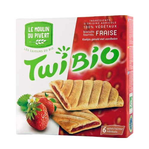 Le Moulin Twibio Biscuits Filled with Strawberry